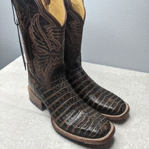 Cinch CFW-146  Exotic Brown Western Caiman Boots 6 B